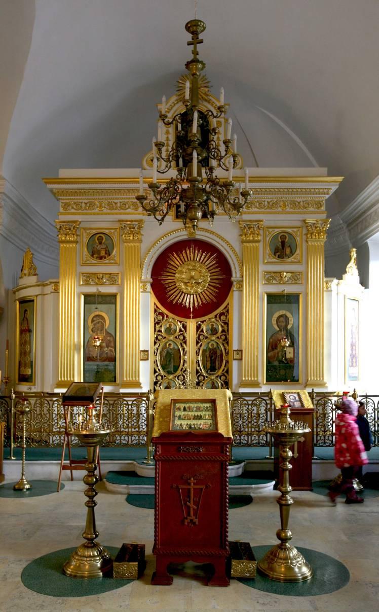 Иконостас храма Вознесения Господня
